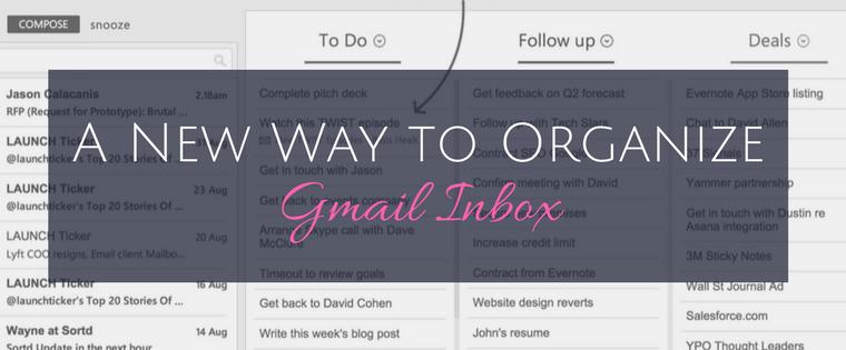 A New Way to Organize Gmail Inbox
